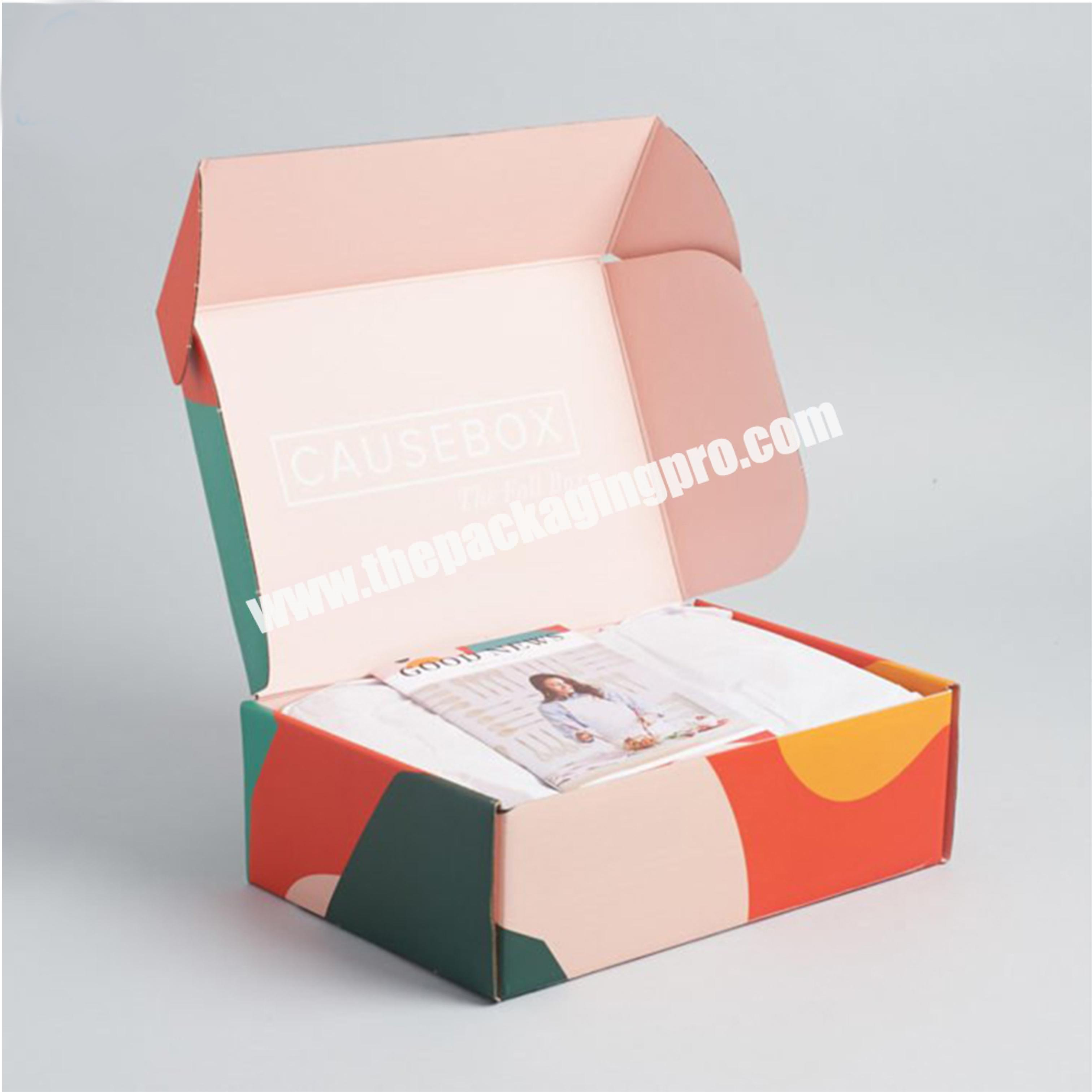 Factory Direct Factory Shipping Paper Postal Box Flute Corrugated Postage Carton Full Black Mailing Box