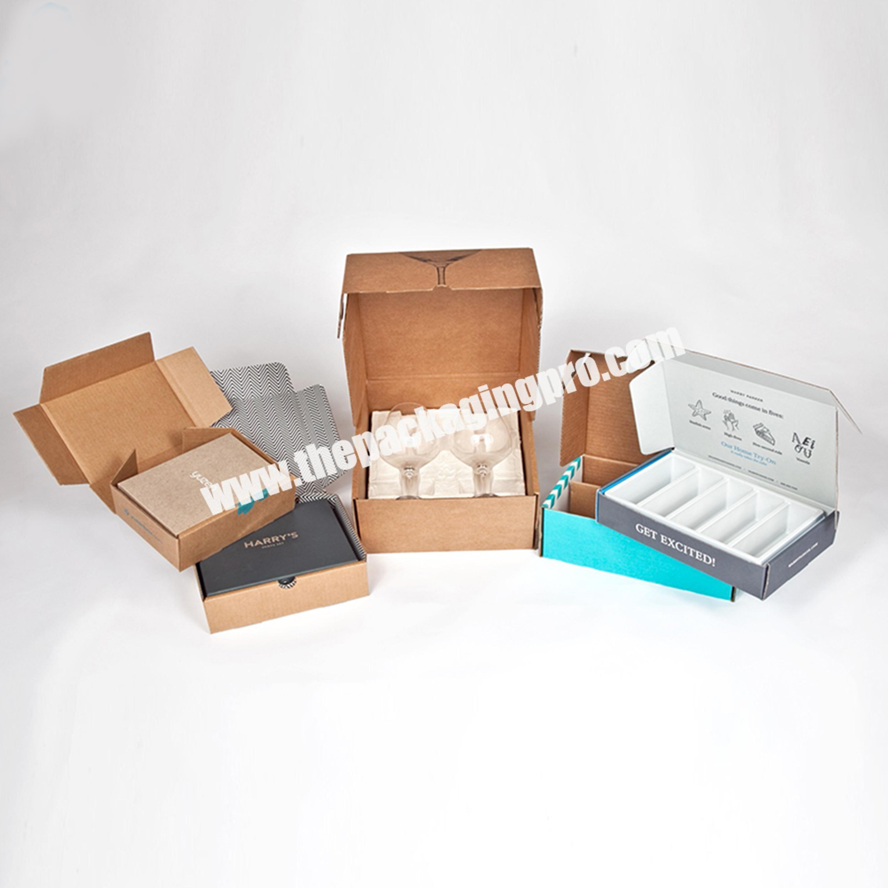 Shop Direct Factory Shipping Paper Postal Box Flute Corrugated Postage Carton Full Black Mailing Box