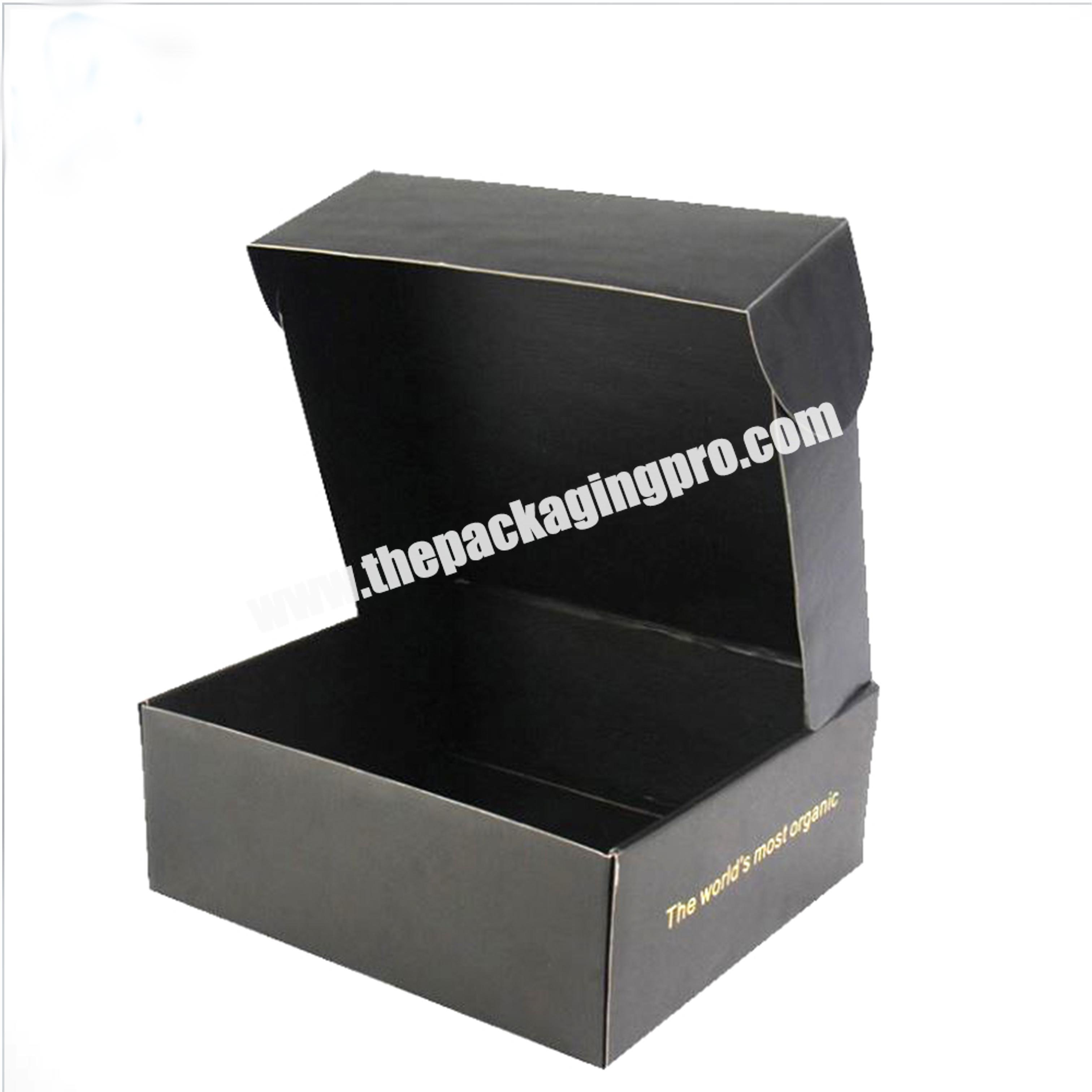 Supplier Direct Factory Shipping Paper Postal Box Flute Corrugated Postage Carton Full Black Mailing Box