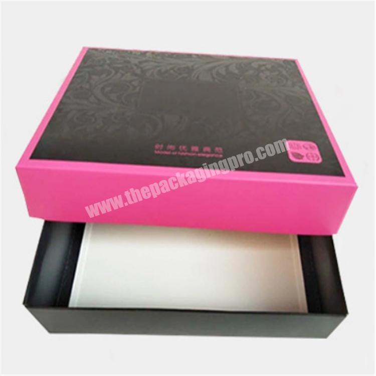 display box paper gift box with clear foldable lid storage boxes