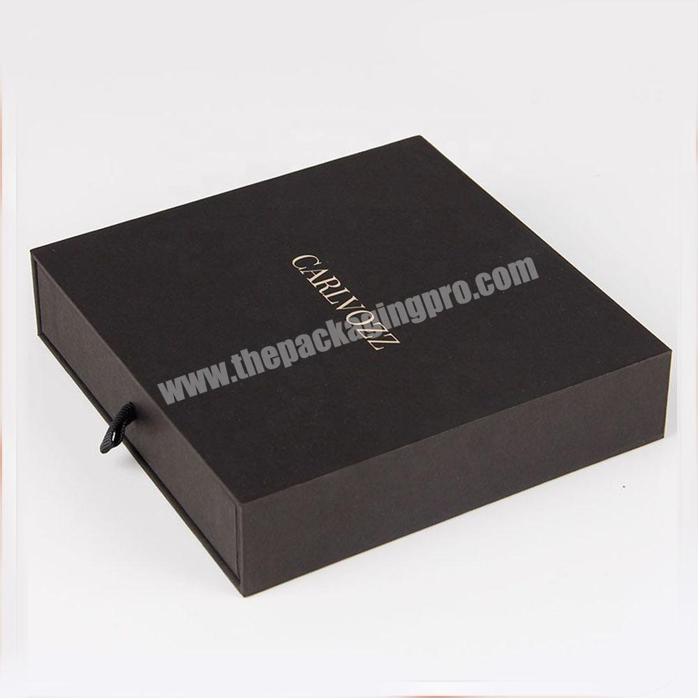 display drawer watch wine mache packing black paper jewelry box cardboard packaging
