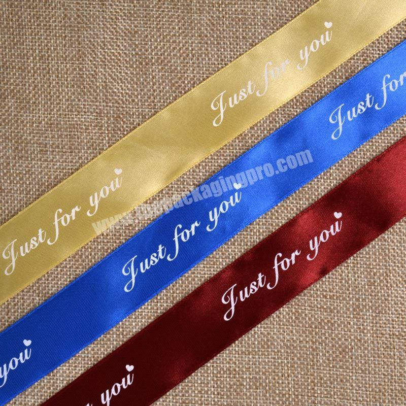 Double Faced Custom Printed Satin Ribbon For Christmas Decoration