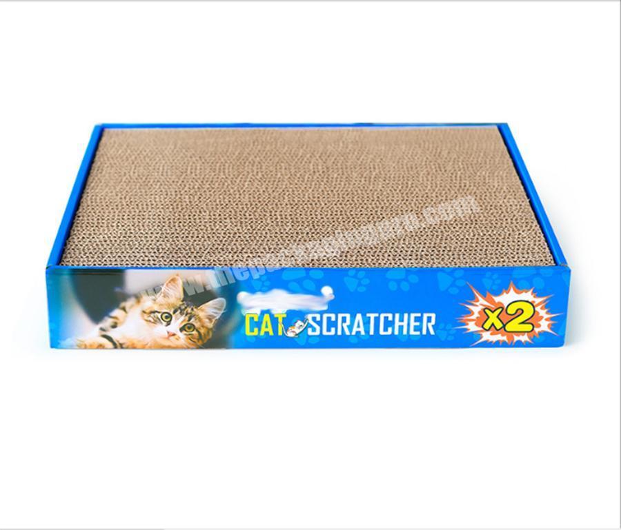 Manufacturer Durable Cat Scratch Toy Cat Scratcher Board Cardboard Toy Corrugated Cat Scratch Board