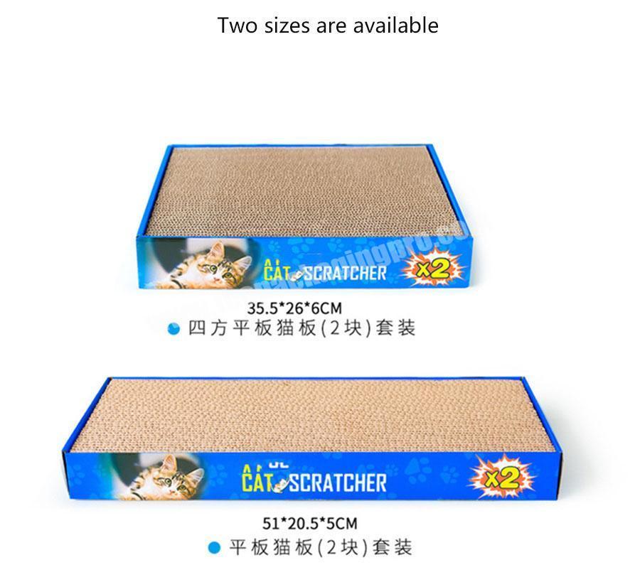 Shop Durable Cat Scratch Toy Cat Scratcher Board Cardboard Toy Corrugated Cat Scratch Board