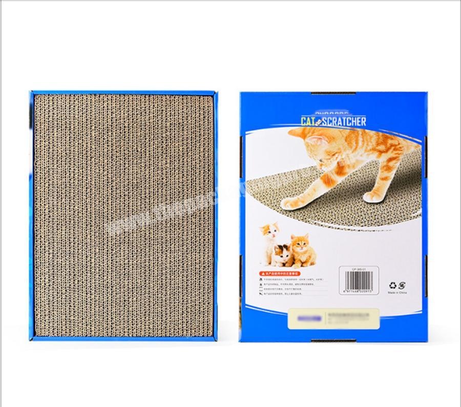 Factory Durable Cat Scratch Toy Cat Scratcher Board Cardboard Toy Corrugated Cat Scratch Board