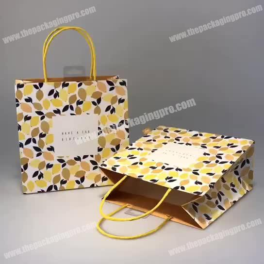 Durable Latest Large Present Wholesale Custom Attractive Cheap High Quality Paper Gift Bag Birthday
