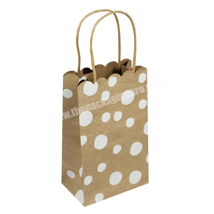 eco friendly  brown paper bags for christmas gift