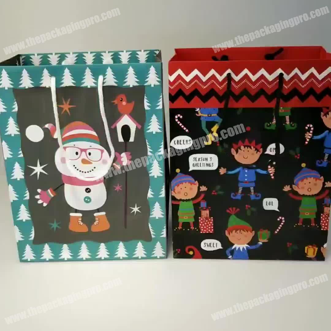 Eco Friendly Cheap Simple Luxury Gift Bags Paper Shopping Birthday Lovely