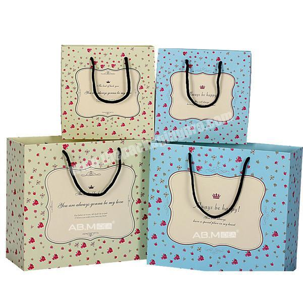 Eco-friendly Exquisite Personalized Own Design Watch  Christmas Gift Wrapping Packaging Paper Shopping Bag