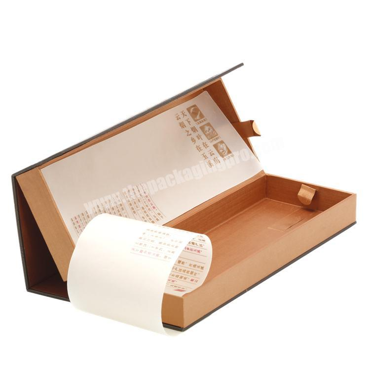 Supplier Eco-friendly Multilayer Rigid Paper Box with Magnets & Tissue Paper for Cigarette  Display