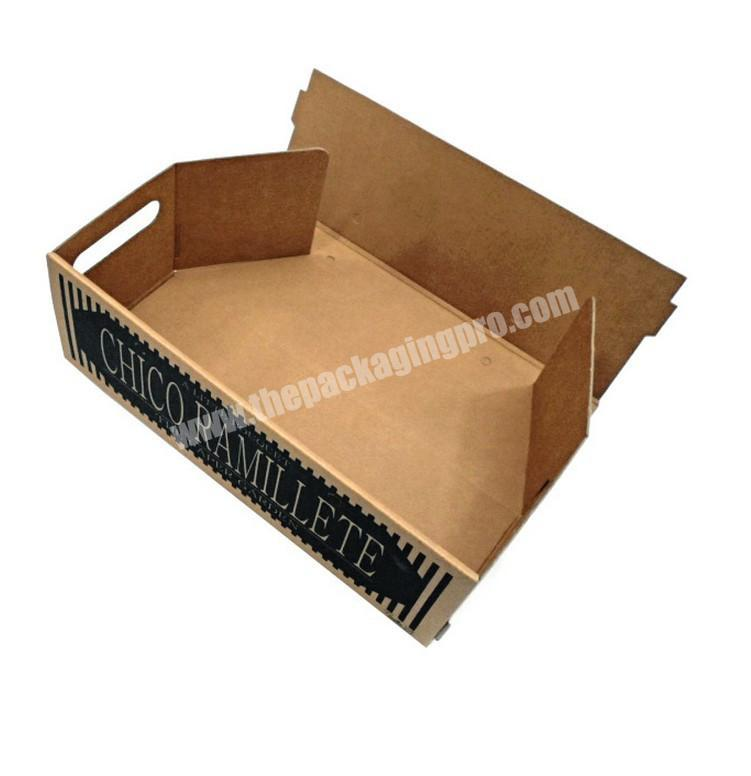 eco friendly packaging folding carton tray paper display tray stand