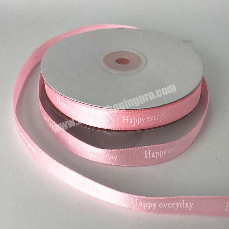 Wholesale ECO friendly satin ribbon embroidery ribbon for gift package