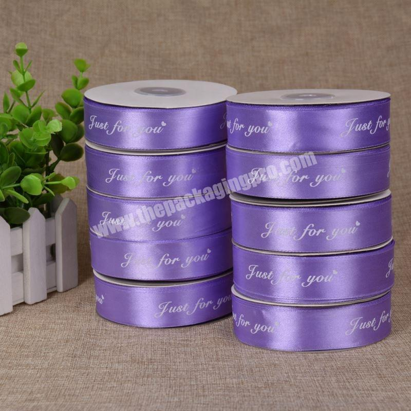 Supplier ECO friendly satin ribbon embroidery ribbon for gift package