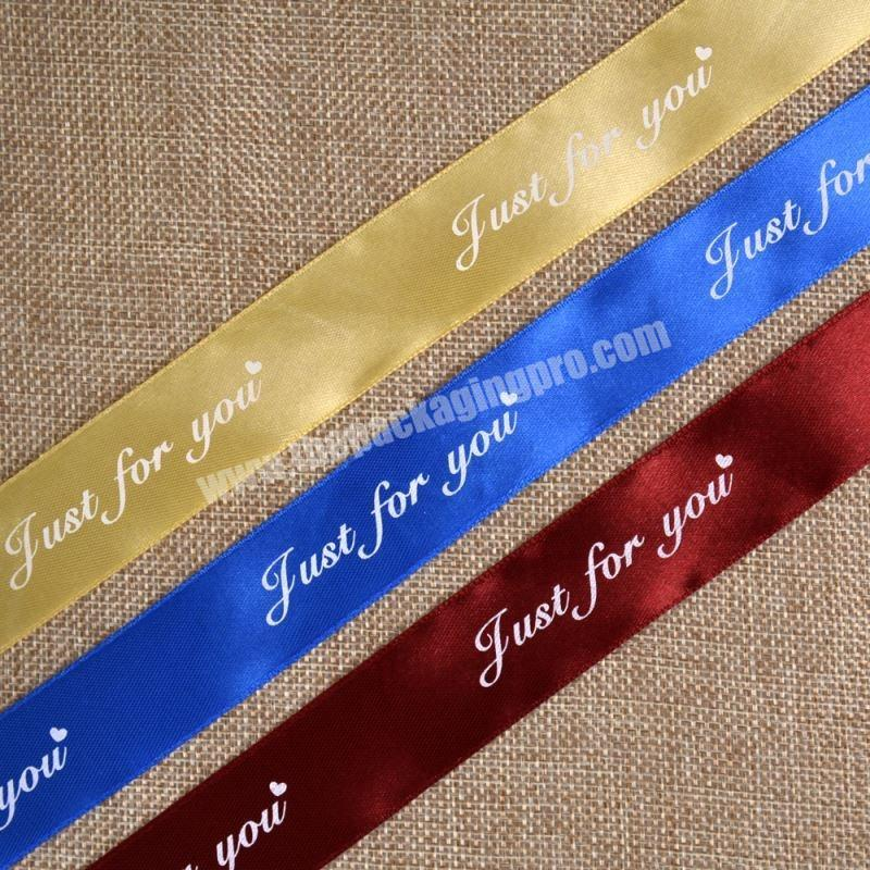 Factory ECO friendly satin ribbon embroidery ribbon for gift package