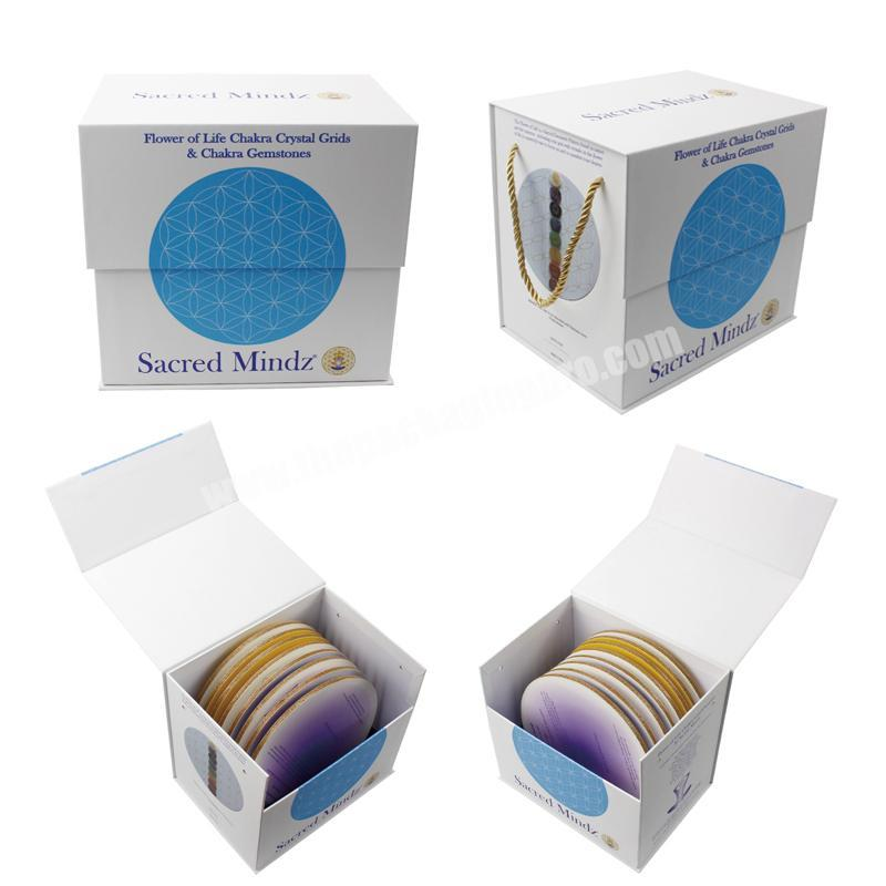 Eco friendly white box with magnetic flap luxury quran gift box magnetic closure flap box