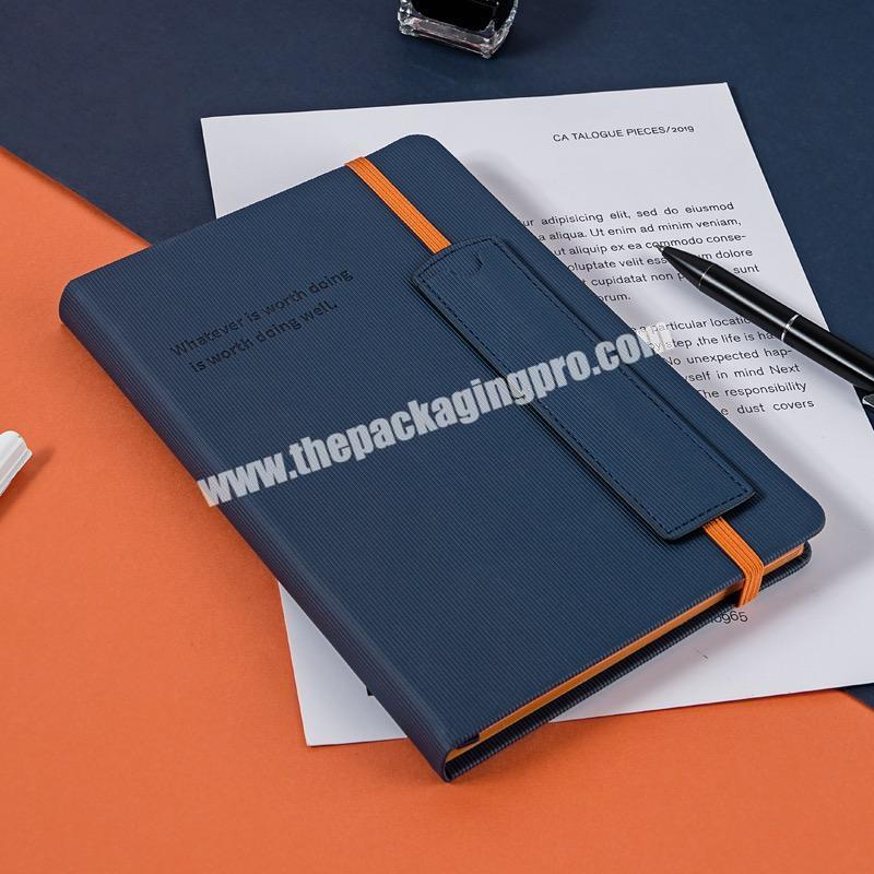 Wholesale Embossed Logo Fabric Cloth Hardcover Stationary Notebook Linen Cover Business Office Diary A5 A6  Handmade Executive Notebooks
