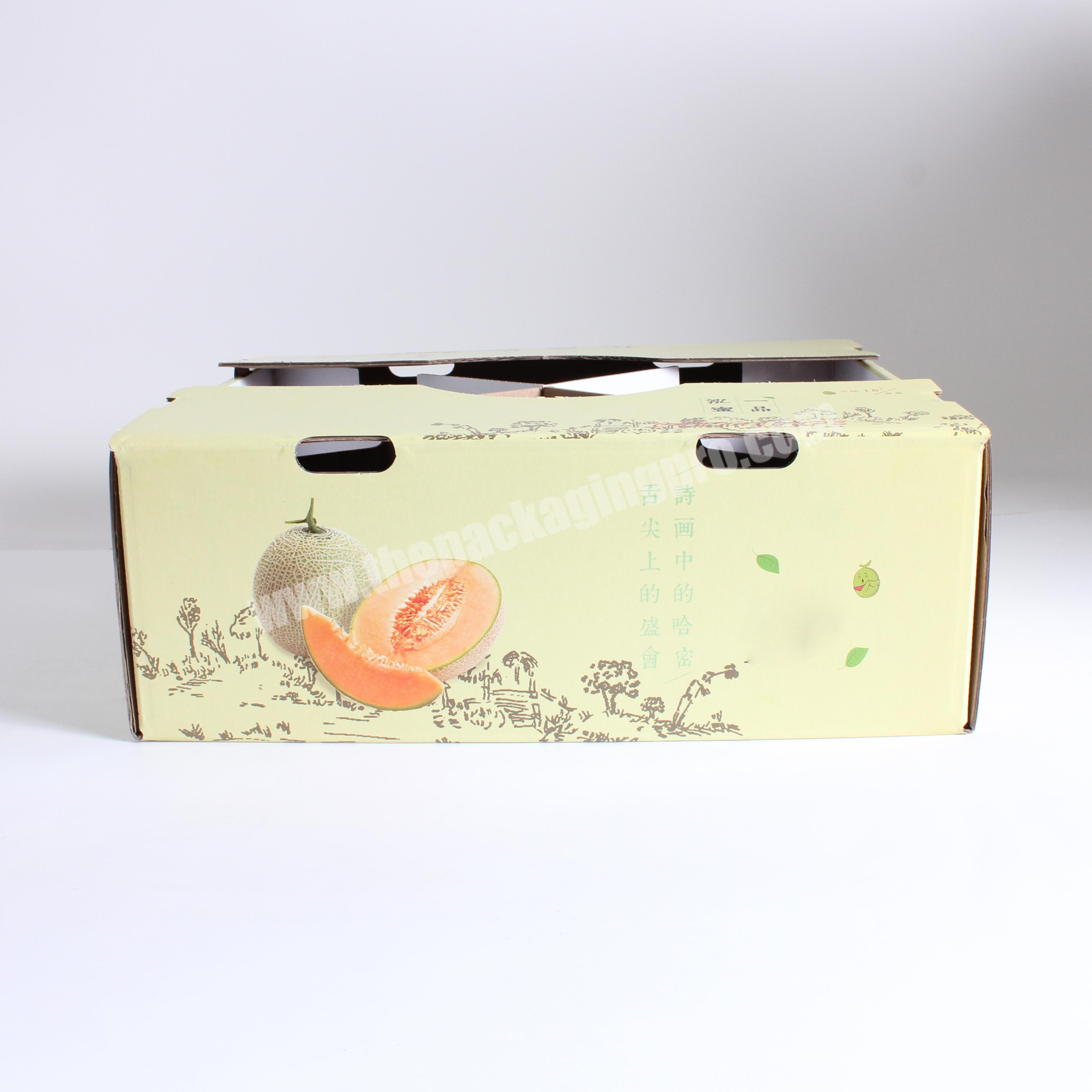 Environmentally Friendly paper gift box with clear pvc window for fruit packaging