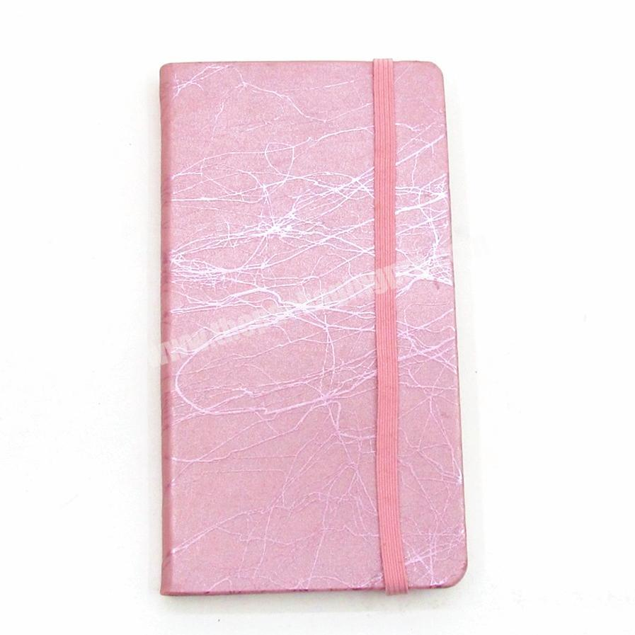 Custom Factory Colorful PU Cover Notebook With Custom Colorful Ribbon And Elastic Diary