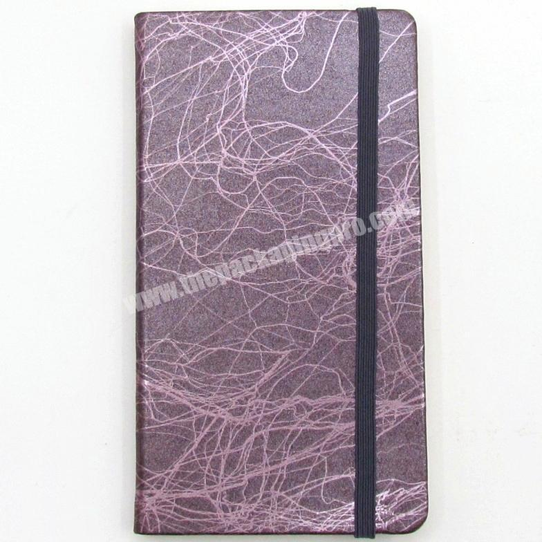 Wholesale Factory Colorful PU Cover Notebook With Custom Colorful Ribbon And Elastic Diary