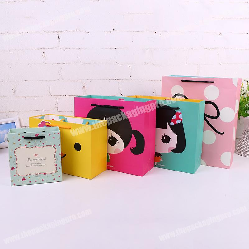 Factory direct custom cute design children candy paper bag for birthday gift bag