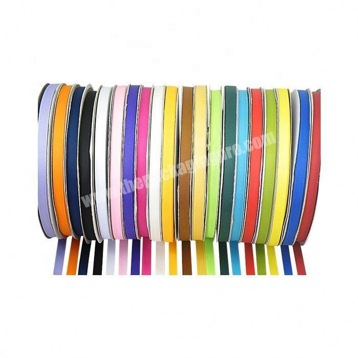 Factory Factory direct sale colorful packing grosgrain ribbon