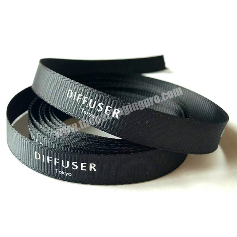 factory direct sale grosgrain printed ribbon with logo