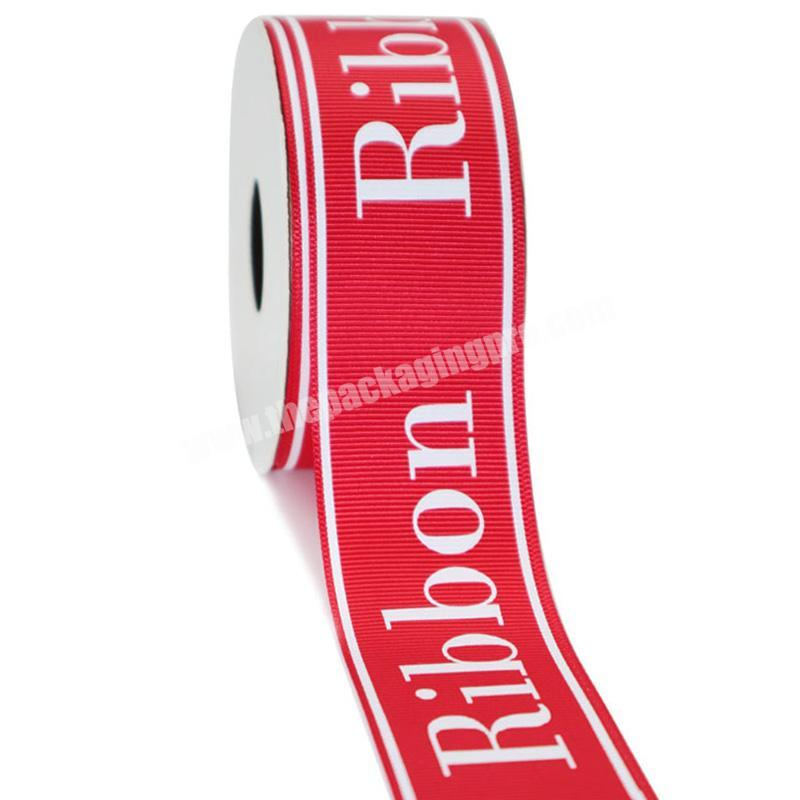 Factory factory direct sale grosgrain printed ribbon with logo