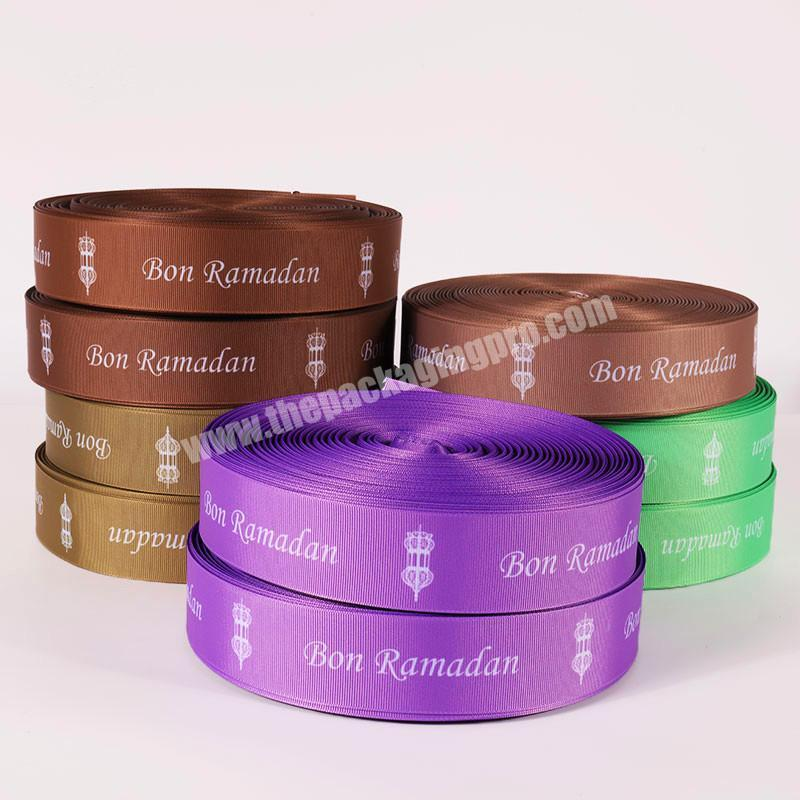 Shop factory direct sale grosgrain printed ribbon with logo