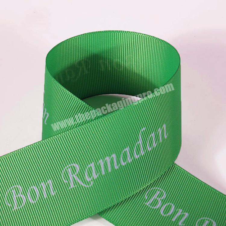 Manufacturer factory direct sale grosgrain printed ribbon with logo