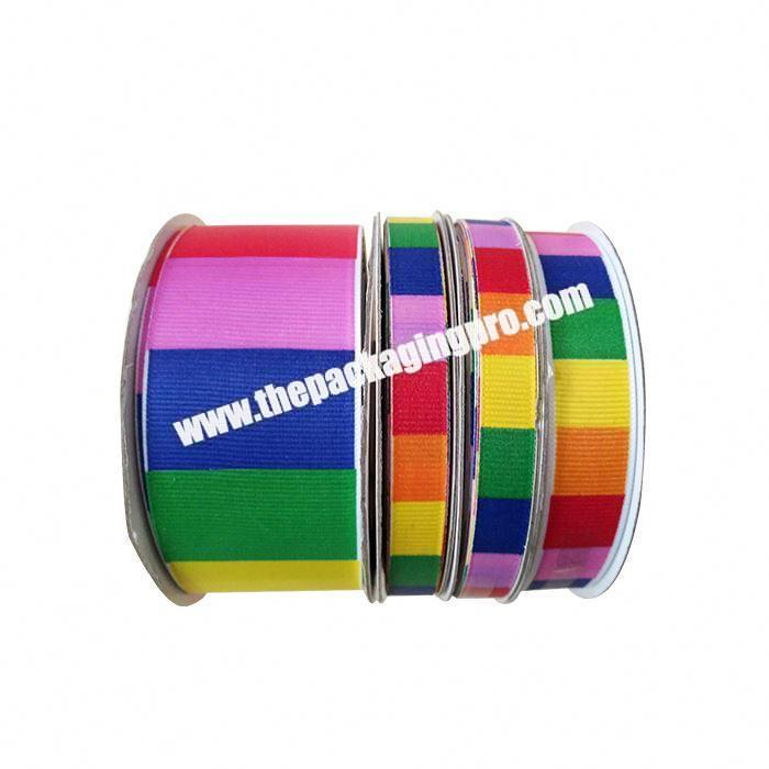 Supplier Factory direct sale polyester double side Christmas decoration grosgrain ribbon