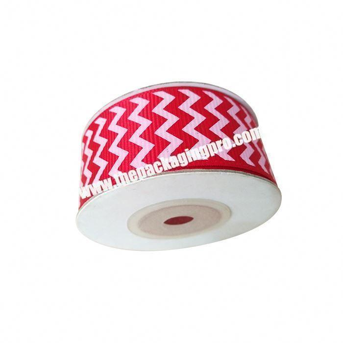 Factory Factory direct sale polyester double side Christmas decoration grosgrain ribbon