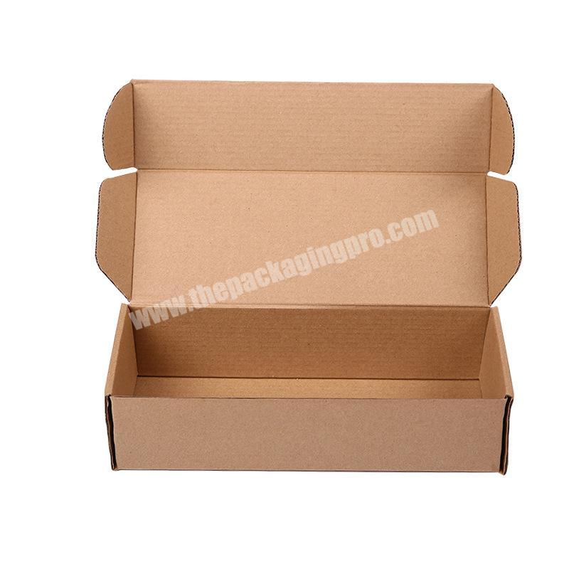 Factory directly corrugated packing box corrugated box for clothes corrugated box for wigs with price