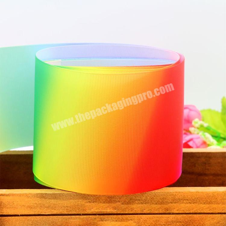 Factory Festival Party Decoration Customized 75mm Printed Grosgrain Ribbon