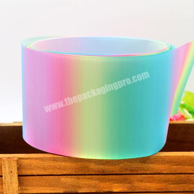Manufacturer Factory Festival Party Decoration Customized 75mm Printed Grosgrain Ribbon