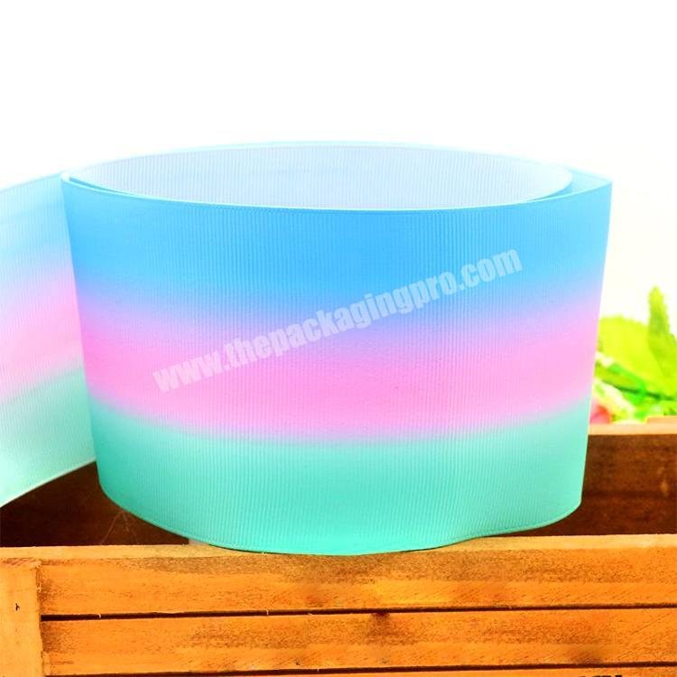 Wholesale Factory Festival Party Decoration Customized 75mm Printed Grosgrain Ribbon