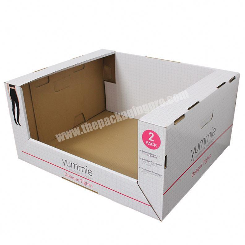 Factory free sample available brochure stand manufacturers cardboard floor display