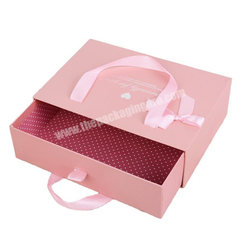 Factory made custom holiday gift box pink luxury gift box printed box for gift