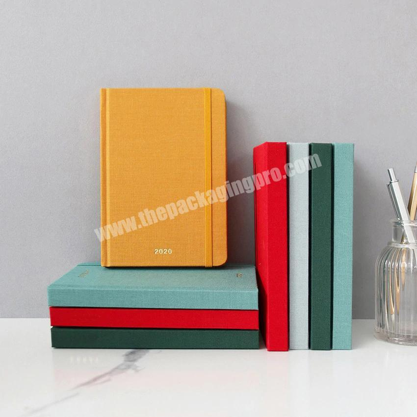 Factory Personalized Fabric Hardcover Notebook Classmate A6 Weekly Monthly Diary Agenda