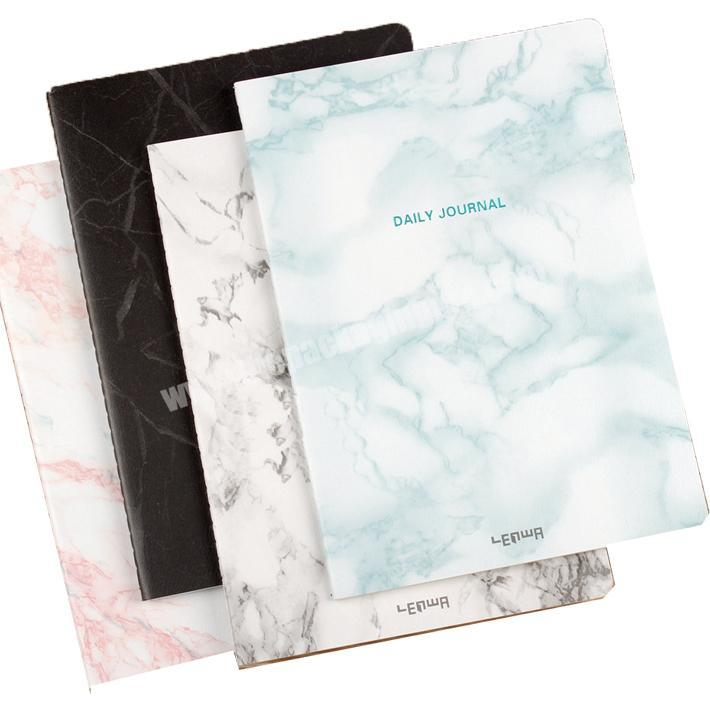 Custom Factory price A5 marble printing softcover traveler's notebook