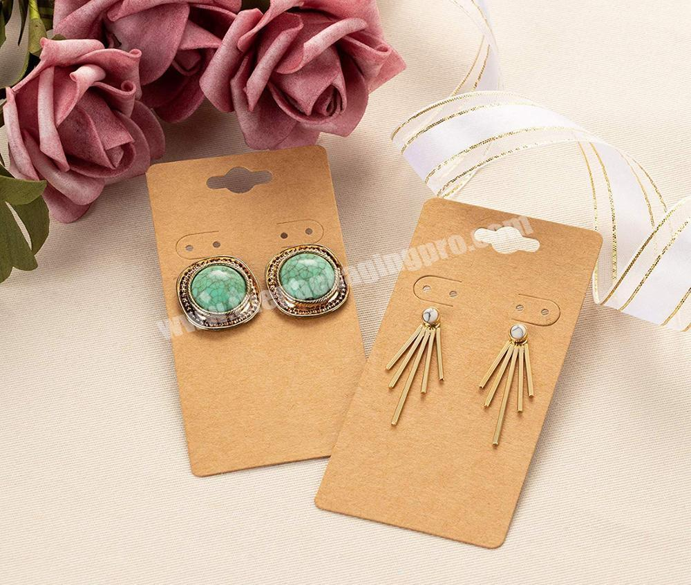Factory Price Custom Printed Necklace Earrings Cards Bracelet Ring Jewelry Packaging Cards