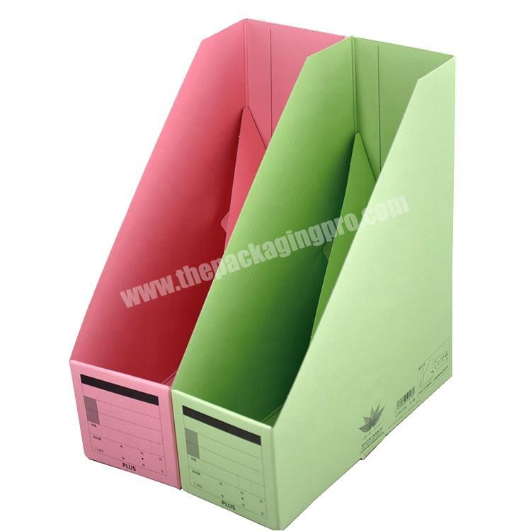 Factory price Wholesale custom Paper stationery rack storage rack vertical file frame for Office for school