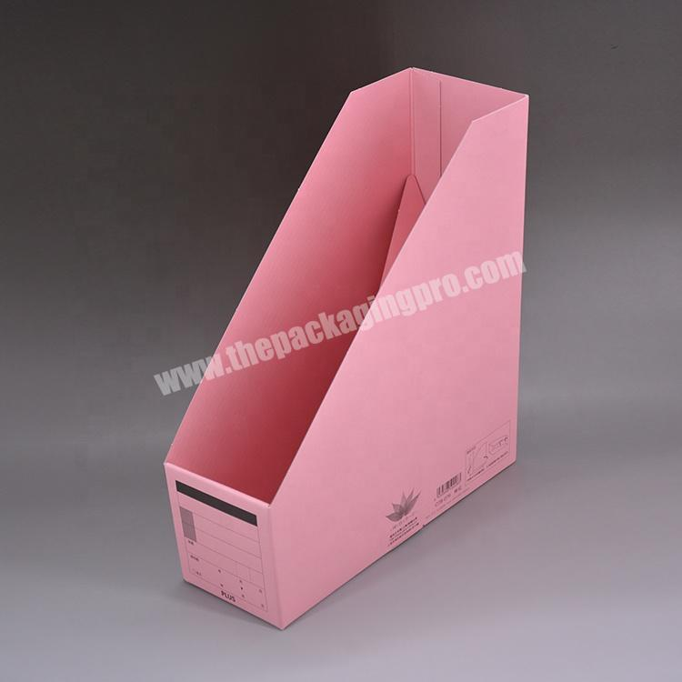 Supplier Factory price Wholesale custom Paper stationery rack storage rack vertical file frame for Office for school