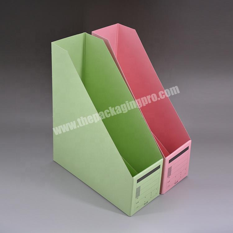 Wholesale Factory price Wholesale custom Paper stationery rack storage rack vertical file frame for Office for school