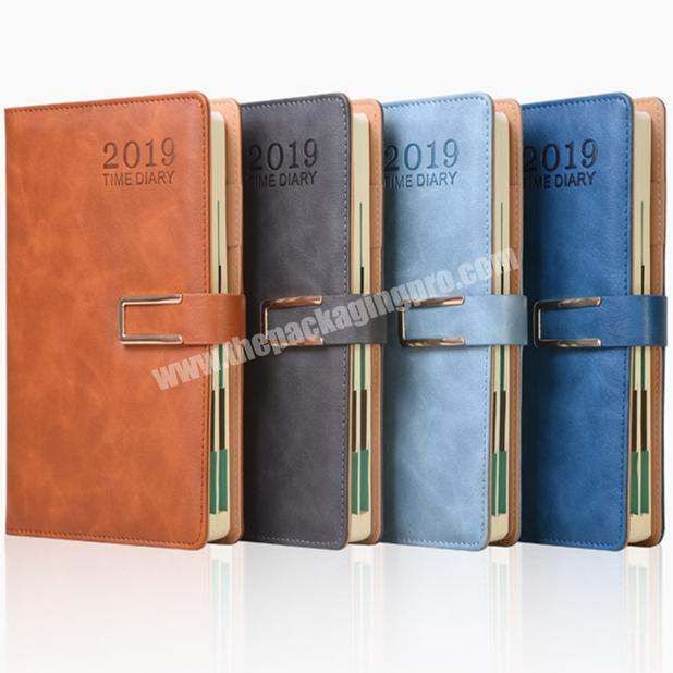 Factory Tabs Divider Diary Custom Leather Notebook Monthly Agenda With Snap