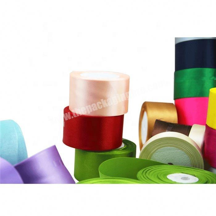 Factory wholesale custom 1 inch satin ribbon decoration