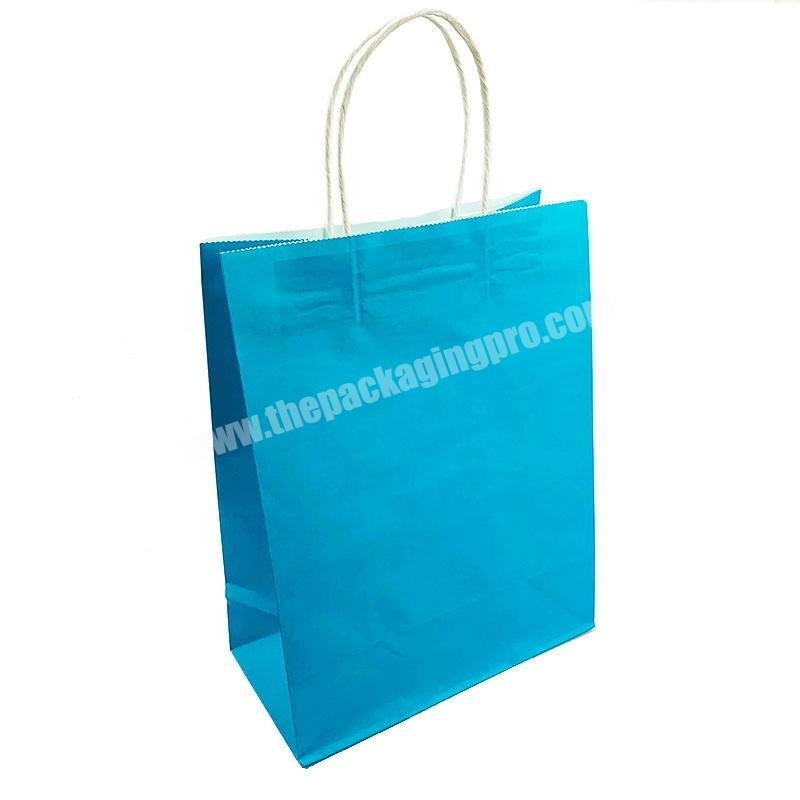 Factory wholesale custom cheap recycled white kraft pribted logo cheap reusable paper bags for clothing packaging