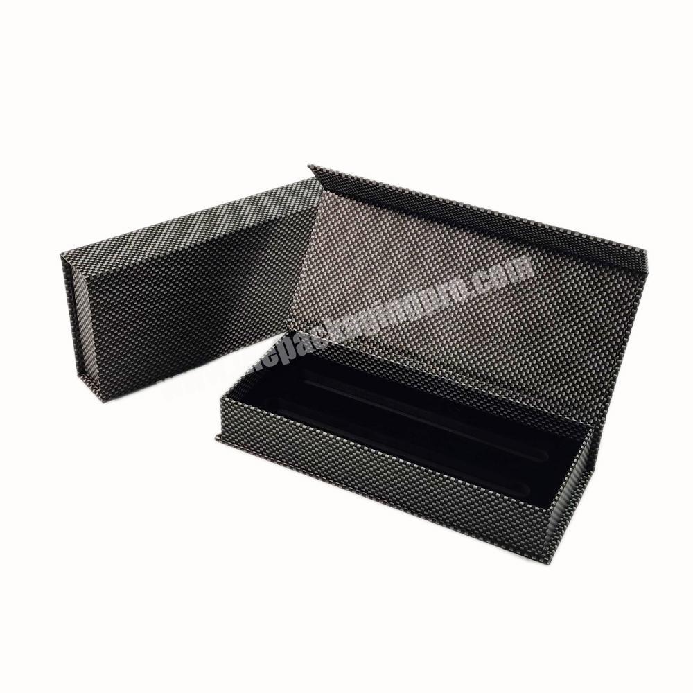 Fancy Black Custom Magnetic Lid Storage Cardboard Pen Packaging Paper Flap Gift Box Luxury