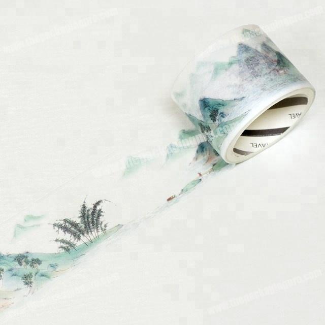 Manufacturer Fantastic antique landscapes series washi paper tape printed custom for decoration