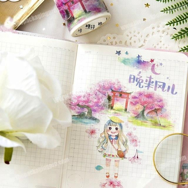 Supplier Fashion likable young girls japanese washi tape paper custom printed