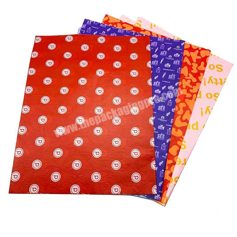 Fashionable Custom Printed Tissue Wrapping Paper For Packaging Clothes Gift Flower With Your Brand Logo